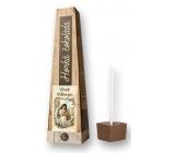 Bohemia Gifts & Cosmetics Horká extra jemná výběrová čokoláda Veselé velikonoce holčička s kočičkou 30 g
