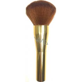 Kosmetický štětec na pudr zlatá rukojeť rezavý vlas 15,5 cm 066