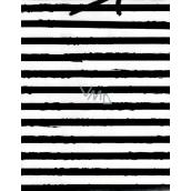 Nekupto Dárková papírová taška střední 18 x 23 x 10 cm, Pruhy 1627 02 KFM
