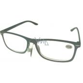 Berkeley Čtecí dioptrické brýle +4,0 plast šedé černé stranice 1 kus MC2135