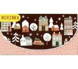 Nekupto Přání obálka na peníze vánoční 116 x 220 mm Domky