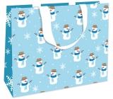 Nekupto Dárková papírová taška s ražbou 30 x 23 x 12 cm Vánoční 1783 WLFL