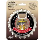 Nekupto Hobby 3v1 otvírák, podtácek, magnet Vášnivý cestovatel 10 cm
