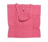 Albi Eko taška vyrobená z pratelného papíru skládací - růžová 37 cm x 37 cm x 9,5 cm