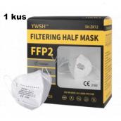 YWSH Respirátor ústní ochranný 4-vrstvý FFP2 obličejová maska 1 kus