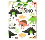 Nekupto Dárková papírová taška 23 x 18 x 10 cm Dinosauři 1820 50 KFM