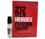 Carolina Herrera 212 Men Heroes toaletní voda pro muže 1,5 ml s rozprašovačem, vialka