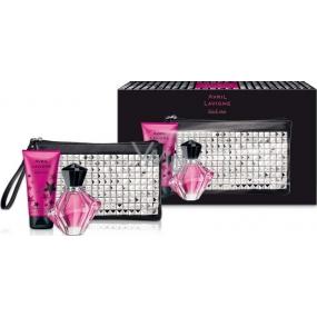 Avril Lavigne Black Star parfémovaná voda 30 ml + tělové mléko 50 ml + kabelka, dárková sada