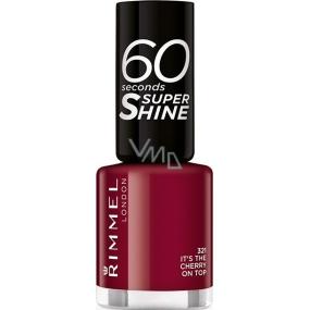 Rimmel London 60 Seconds Super Shine Nail Polish lak na nehty 321 Its The Cherry On Top 8 ml