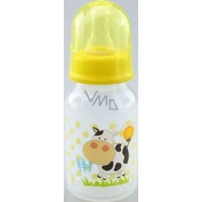 First Steps Feeding Bottle Ovečka 0+ kojenecká láhev se silikonovou savičkou 150 ml