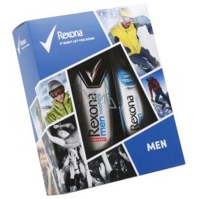 Rexona Men Cobalt antiperspirant deodorant sprej pro muže 150 ml + Cool Ice sprchový gel 250 ml, kosmetická sada