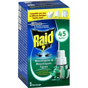 Raid elektrický odpařovač s eukalyptovým olejem proti komárům náhradní náplň 45 nocí 27 ml