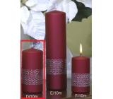 Lima Stuha svíčka vínová válec 50 x 100 mm 1 kus