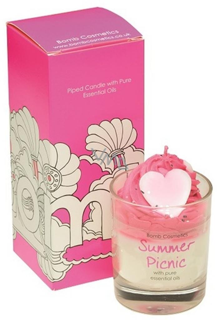 Bomb Cosmetics Letní piknik vonná přírodní, ručně vyrobena svíčka ve skle hoří až 35 hodin