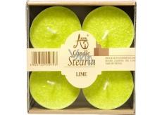 Adpal Stearin Maxi Lime - Limetky vonné čajové svíčky 4 kusy