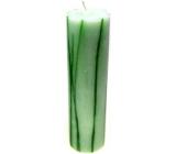Lima Rustik aromatický vonná svíčka zelená válec 70 x 300 mm