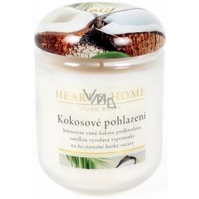 Heart & Home Kokosové pohlazení Sojová vonná svíčka střední hoří až 30 hodin 110 g