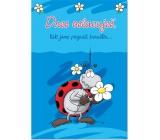 Ditipo Hrací přání k narozeninám Dnes oslavuješ Pastelky Beruška 224 x 157 mm
