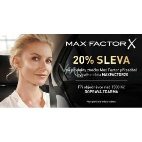 DÁREK Sleva 20% na dekorativní kosmetiku Max Factor, V košíku zadej kód MAXFACTOR20 - Akce platí celý měsíc KVĚTEN