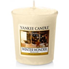 Yankee Candle Winter Wonder - Zimní zázrak vonná svíčka votivní 49 g