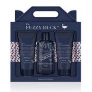 Baylis & Harding The Fuzzy Duck Růžový pepř a Agarwood šampon na vlasy 300 ml + sprchový gel 200 ml + balzám po holení 200 ml, kosmetická sada pro muže
