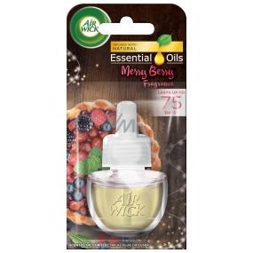 Air Wick Essential Oils Merry Berry - Vůně zimního ovoce elektrický osvěžovač náhradní náplň 19 ml