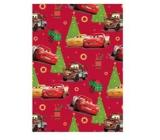 Ditipo Dárkový balicí papír 70 x 200 cm Vánoční Disney Auta červený