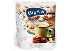 Big Soft Zima papírové kuchyňské utěrky s potiskem 2 vrstvé 2 kusy