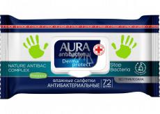 Aura Antibakteriální vlhčené ubrousky na ruce, ničí až 99% bakterií 72 kusů