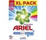 Ariel Fresh Touch of Lenor Fresh Color prací prášek na barevné prádlo krabice 63 dávek 4,725 kg