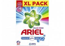 Ariel Color Fresh Touch of Lenor Fresh prací prášek na barevné prádlo krabice 63 dávek 4,725 kg