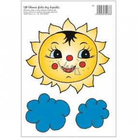 Okenní fólie sluníčko s mráčky 30 x 23 cm