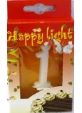 Happy light Dortová svíčka čísliec 1 v krabičce