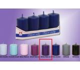 Lima Svíčka hladká tmavě fialová válec 40 x 70 mm 4 kusy
