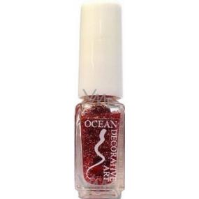 Ocean Decorative Art zdobící lak na nehty odstín 04 světle vínový třpyt 5 ml