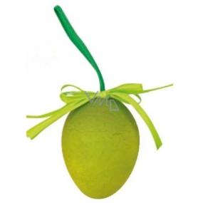 Vajíčko stříkané závěs zelené 6 cm, 1 ks