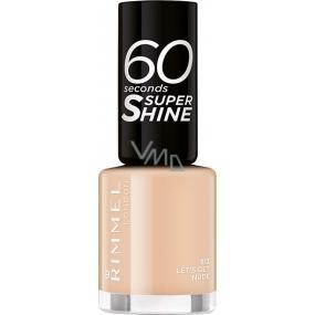 Rimmel London 60 Seconds Super Shine Nail Polish lak na nehty 513 Lets Get Nude 8 ml
