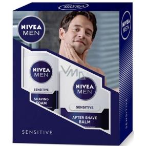 Nivea Sensitive pěna na holení 200 ml + Sensitive balzám po holení 100 ml,pro muže kosmetická sada