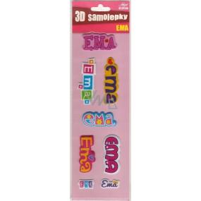 Nekupto 3D Samolepky se jménem Ema 8 kusů 026