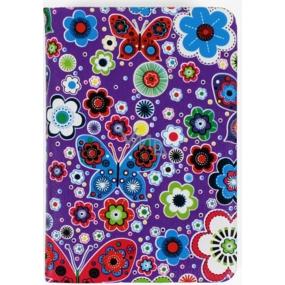 Albi Diář mini Motýlci na fialové 7,5 cm × 11 cm × 1,1 cm