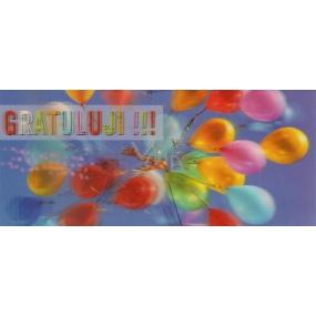 Albi 3D Dárková mléčná čokoláda 012 Gratuluji 100 g 14 x 6 cm
