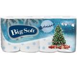 Big Soft Zima Vánoční stromek toaletní papír s potiskem 3 vrstvý 160 útržků 8 kusů