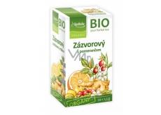 Apotheke Bio Zázvorový čaj s pomerančem napomáhá k trávení, dýchání a duševní pohodě 20 x 1,5 g
