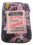 Albi Skládací taška na zip do kabelky se jménem Libuška 42 x 41 x 11 cm