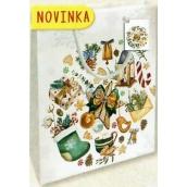 Nekupto Dárková papírová taška malá 14 x 11 x 6,5 cm Vánoční 1794 02 WBS