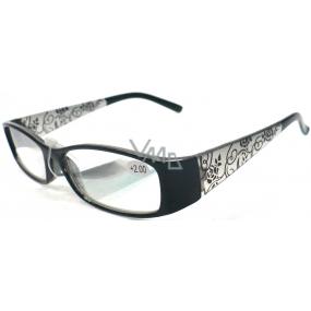 Berkeley Čtecí dioptrické brýle +2,0 černé retro CB02 1 kus ER510