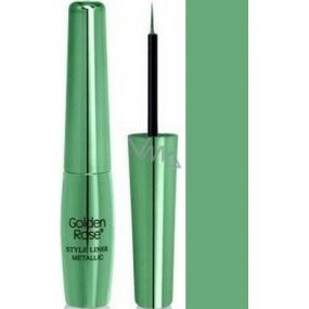 Golden Rose Style Liner Metallic Eyeliner tekuté oční linky 04 zelená 6,5 g