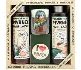 Bohemia Pivrnec Sprchový gel 250 ml + Vlasový šampon 250 ml + Toaletní mýdlo 70 g + button I love pivo