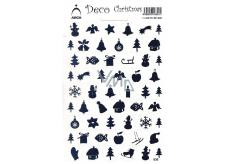 Arch Holografické dekorační samolepky vánoční různé motivy modré 830