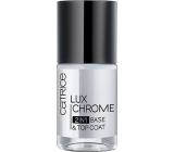 Catrice LuxChrome 2in1 Base & Top Coat podkladový a krycí lak na nehty 10 ml